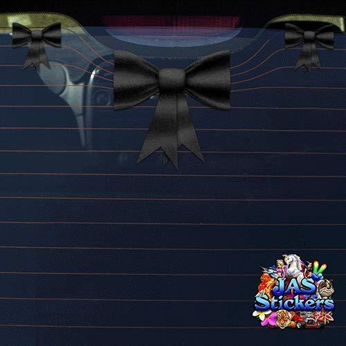 Autocollant de voiture de ruban noeud papillon noir ST00027BK/_SML JAS Stickers