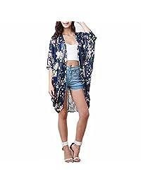 Changeshopping Women Chiffon Kimono Cardigan Coat Tops Blouse