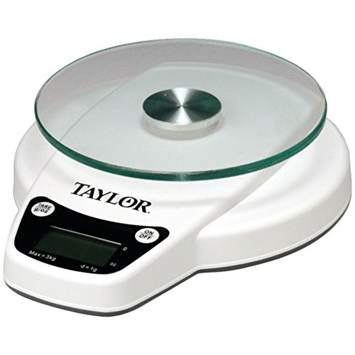 Taylor 3800N Digital Kitchen Scale 6-lb Capacity - Tare On/Off Home & Garden (6 Pound Kitchen Scale)