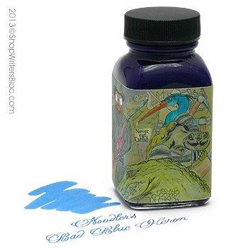 Noodler's Ink Refills Wardens Bad Blue Heron Bottled Ink - - Blue Refill Ink Bottled