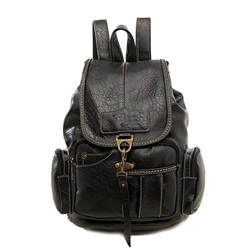 souple sac 16 sac en mode la 27 de multifonctionnel à main Sac à PU dos femmes 32cm cuir des décontracté FvXqUxf