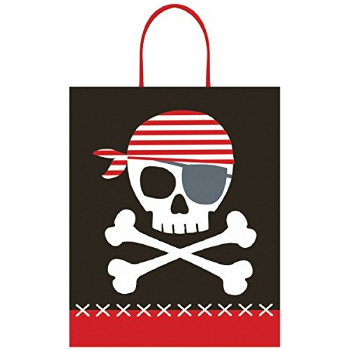 Pirate Plastic Treat Bag w/Plastic Handle -