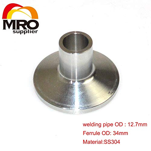 Xucus 51mm 2 Turn to 32mm O//D 304 Stainless Steel Sanitary Weld Concentic Reducer Pipe Fitting