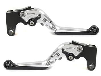 Moto-777 Manetas de plata con Ajustadores Negro pour Yamaha MT-07 2014: Amazon.es: Coche y moto