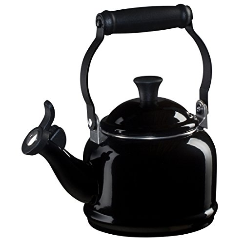 Le Creuset Enamel-on-Steel Demi 1-1/4-Quart Teakettle, Black