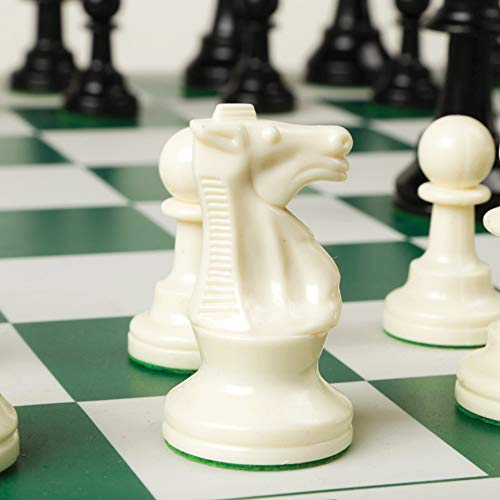 Best Chess Set Ever - Chess Board Game with Triple Weight Pieces, Green Silicone -