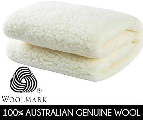 MiniJumbuk Sleep Therapy Wool Mattress Underlay Underblanket Topper-Queen