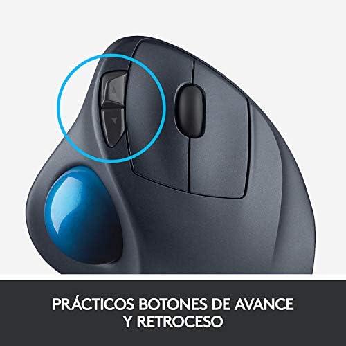 Logitech M570 Trackman Ratón Trackball Inalámbrico, 2,4 GHz con ...