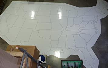 Amazoncom Large United States Map Stencil Ft X Ft Patio - Large us map stencil