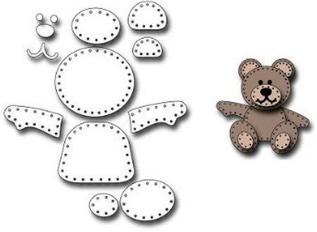 (Frantic Stamper - Dies - Felt Teddy Bear)