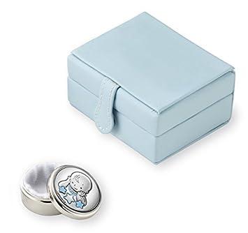 Sterling bebé primer diente / First Curl cajas de joyas, Azul