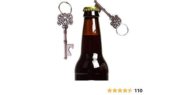 2pcs Soda Wine Beer Bottle Opener Key Shape Keyring Pendant Bar Party Tools