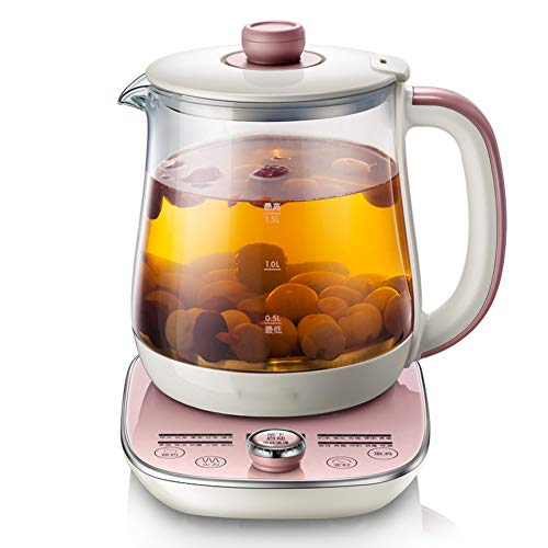 Glass Tea maker, Multi-use Electric Kettle Programmable control panel base Includes filter Egg cooker-A 1500ml(53 oz)