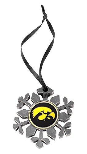 LinksWalker Iowa Hawkeyes Snowflake Ornament (University Ornaments Of Christmas Iowa)