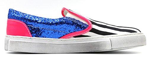 Slip-on In Pelle Glitterata Giunchi Made In Italy (9 Us / 39 It)