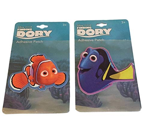 Finding Dory and Nemo Adhesive Patch Set of 2 Sticker Patches