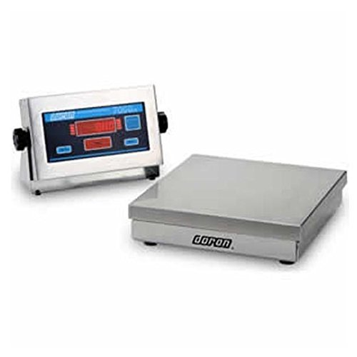 Square Base Bench Scale (DORAN 7025XL Stainless Steel Bench/Floor Scale 25 lb x 0.005 lb)