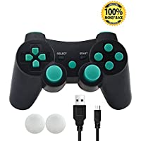 PS3 Controller, Wireless Bluetooth Gamepad Double...