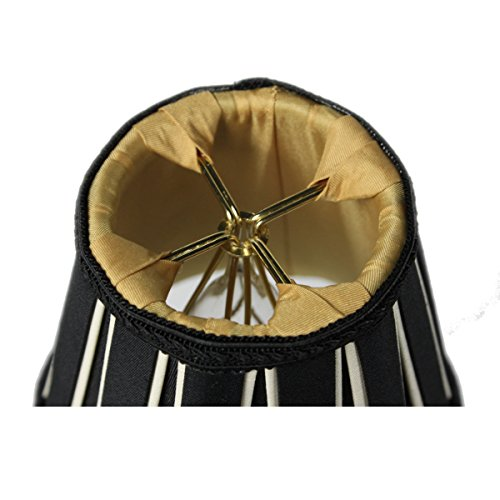 3x5x5 Black Eggshell Chandelier Clip On Lampshade By Home