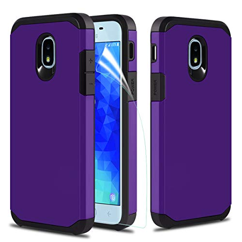 CASEKEY Samsung Galaxy J7 Refine Case,Samsung Galaxy J7 2018 Case,Samsung Galaxy J7 TOP/J7V J7 V 2nd Gen/Galaxy J7 Star/J7 Crown Case w Screen Protector, Dual Layer Hybrid Hard Protective Case,Purple