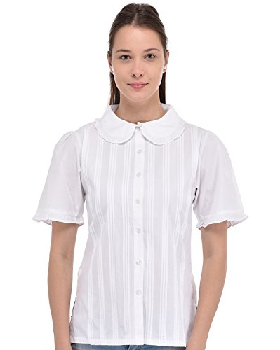 Pan De Cuello Blusa Corta Cotton Blanca Peter Lane Manga wxqEpXI