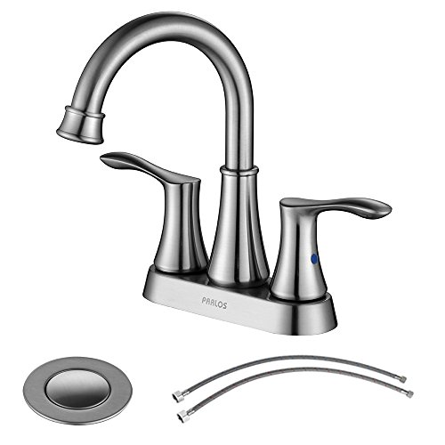 Parlos Swivel Spout 2-handle Lavatory Faucet Brushed Nickel Bathroom Sink Faucet with Pop-up Drain and Hose ,Demeter13627 (Replacement Lavatory Spout)