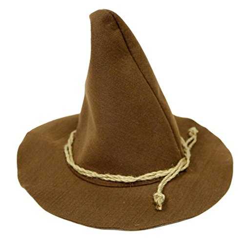 Brown Scarecrow Hat With Rope Band