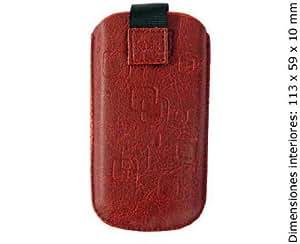 Ksix Havanna - Funda universal para móvil, talla M, rojo