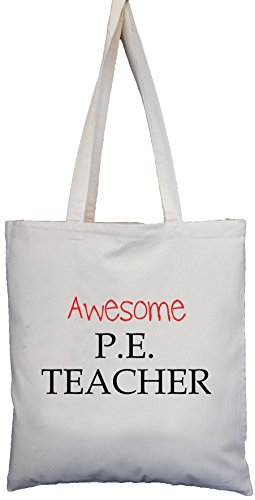 P Bag Cream Shoulder Teacher Natural E Gift Cotton Awesome School SgqwUdU