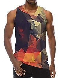df2249421fa78 Summer 3D Digital Printed Mens Sleeveless Tees Cool Tank Tops Crewneck  Shirts