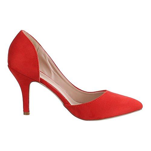 Design Tacón Ital Zapatos rojo Mujer de Rojo C1xzq0q4w