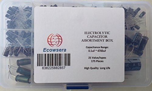 21 Value 175 pcs Electrolytic Capacitors Assortment Box Easy Use