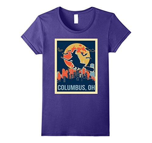 Womens columbus Ohio halloween shirt Large Purple (Halloween Columbus Ohio)