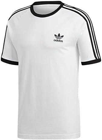 (アディダス オリジナルス) adidas Originals 3 ストライプTシャツ [3 STRIPES TEE] (S, 白)