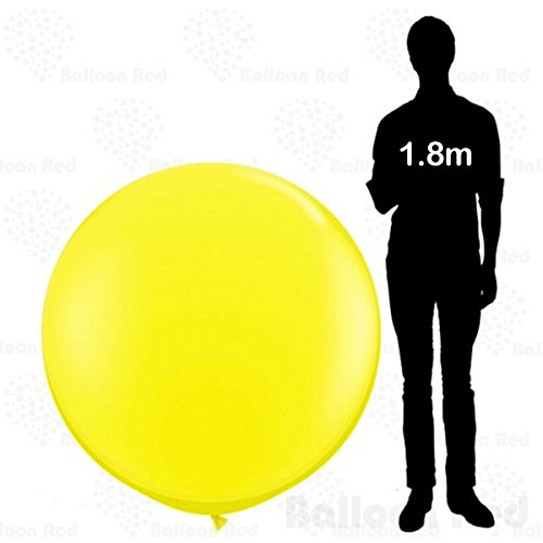 4 ft / 48 Inch Giant Jumbo Round Latex Balloons (Premium Quality), Pack of 1, Yellow (Best Homemade Halloween Costumes)