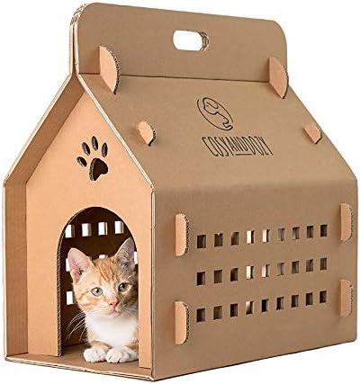 Casa para gatos   Tabla para rascar para gatos   casa para gatos de cartón ondulado   cartón   gato   tumbona para gatos: Amazon.es: Hogar