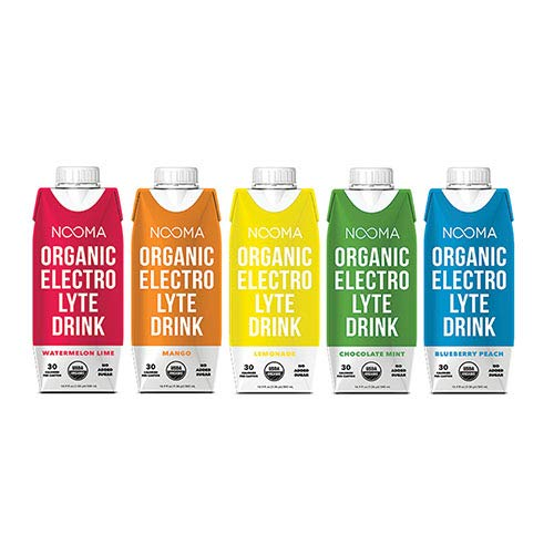 NOOMA Organic Electrolyte Sports Drink | Naturally Effective Workout Hydration | Certified Keto, Vegan, Gluten Free & More | No Added Sugar, 30 Calorie | Variety Pack 16oz (Pack Of 12)