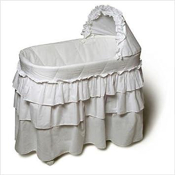 Burlington Baby Bassinet With Full Length Skirt White