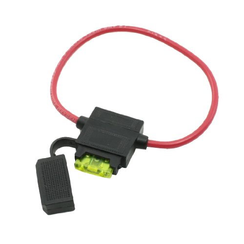 Uxcell Car Boat 16# AWG Wire Blade Fuse W Plastic Holder Block (Design Fuse Holder)