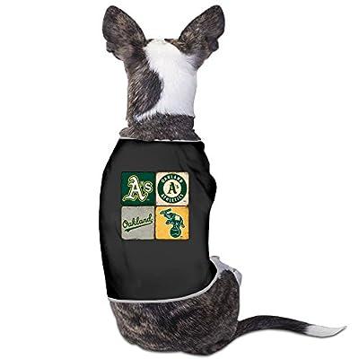 LOVE-Cute Oakland Athletics Classic Logo Mascot Pet Dog Shirt.