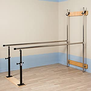 "7' x 28"" x 28"" 42"" Wall Mounted Folding Parallel Bars, used for Physical Therapy CL 3 3307"