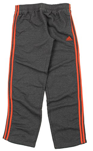 Adidas Big Game Fleece (Adidas Big Boys Youth Cotton Fleece Slim Pants (Medium (10/12), Grey/Red))