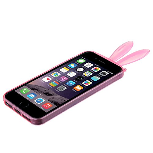 BACK CASE 3D BUNNY OHREN pink für Iphone 5 Hülle Cover Case Schutzhülle Tasche Teddy