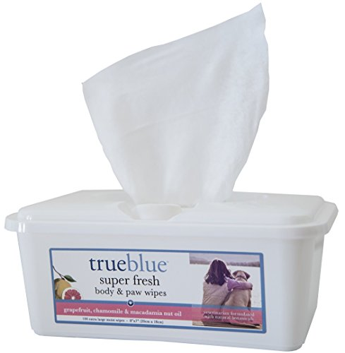 TrueBlue Super Fresh Body and Paw Wipes, 100-Count - Packaging May (Super Pet Wipes)