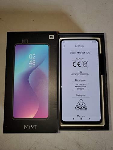 "Mi 9T (64GB, 6GB RAM) 6.39"" AMOLED FHD + Full Screen Display, 48MP Triple Camera, Global 4G LTE Dual SIM GSM Factory Unlocked - International Version, No Warranty (Carbon Black)"