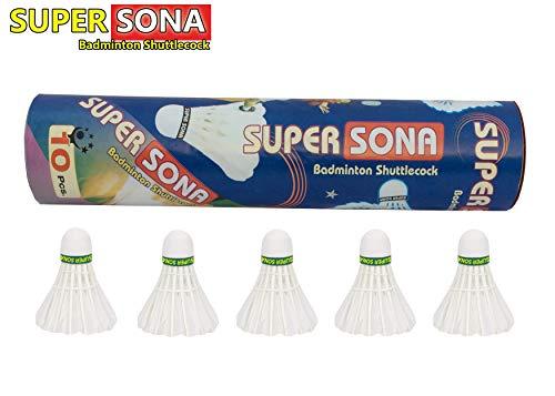 Super Sona Badminton Shuttlecock Pack of 10 Feather Shuttle Cock (B08CSF526Z) Amazon Price History, Amazon Price Tracker