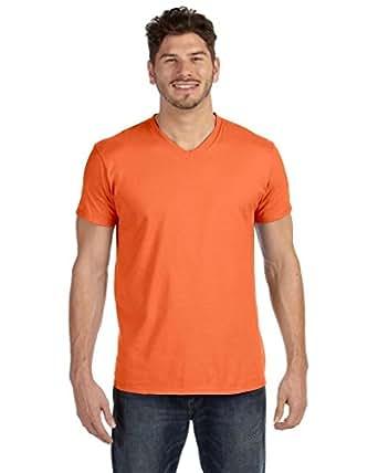 Hanes Men's Cotton Nano V-Neck T-Shirt,Vintage Orange,2XL