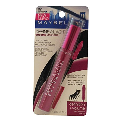 - (3 Pack) Maybelline New York Define-a-lash Lengthening Mascara, Very Black 821, 0.22 Fluid Ounce