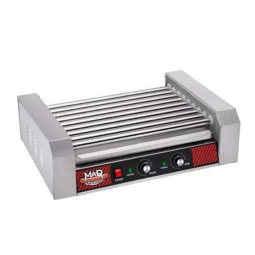 Great Northern Popcorn Company 24 Hot Dog 9 Commercial Roller Grilling Machine, 1800W, Silver by Great Northern Popcorn Company