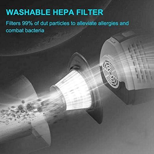 Vide sans Fil pour la Maison/Voiture Aspirateur, Plus Puissant aspirateur à Main 7 kPa Absorbent Rechargeable Wet Dry
